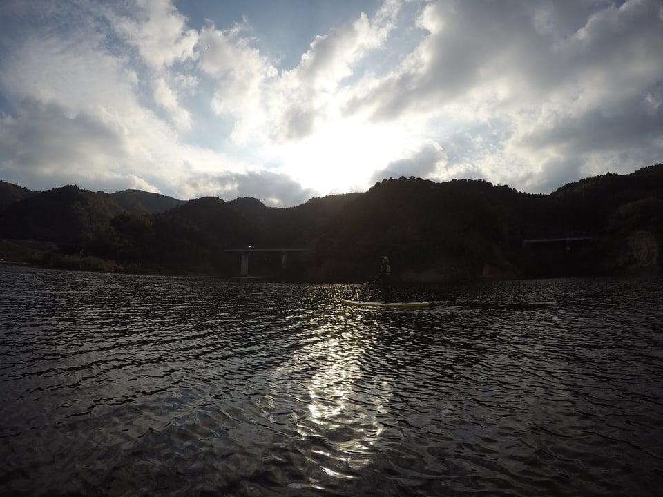 キラキラと光る水面がキレイでした。